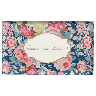 Adorable  Romantic Flowers -Motivational Message Table Card Holder