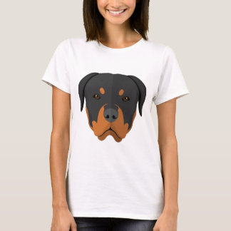 Adorable Rottweiler Cartoon T-Shirt
