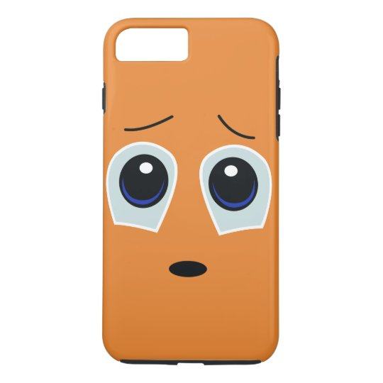 Adorable Sad Face Design iPhone 7 Plus Case