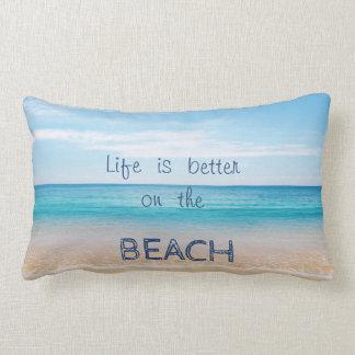 Adorable Sand,Sea,Sky,Beach Lumbar Cushion