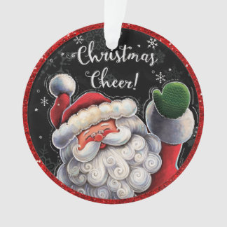 Adorable Santa Ornament or Tag