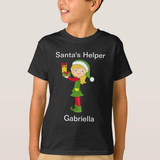 Adorable Santa's Helper Elf Christmas Shirt