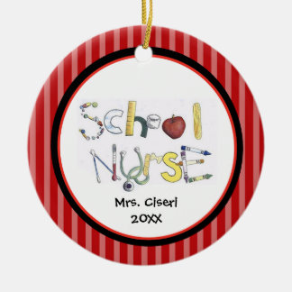 Adorable School Nurse Ornament
