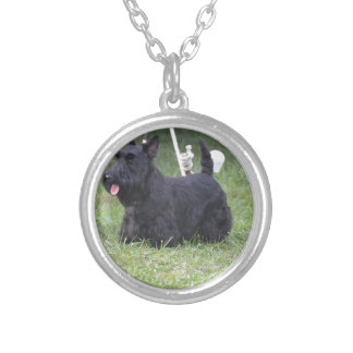 Adorable Scottish Terrier Silver Plated Necklace