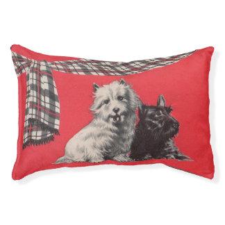 adorable Scottish terriers Pet Bed