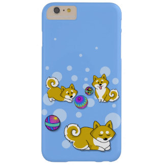 Adorable Shiba Inu and Temari Balls Barely There iPhone 6 Plus Case
