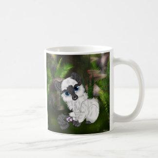 Adorable Siamese Fluffy Kitten Coffee Mug