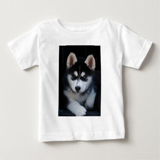 Adorable Siberian Husky Sled Dog Puppy Baby T-Shirt