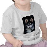 Adorable Siberian Husky Sled Dog Puppy T-shirts