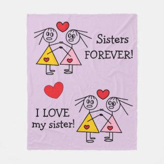 Adorable Sisters Design Fleece Blanket