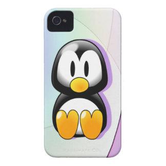 Adorable Sitting Cartoon Penguin iPhone 4 Case-Mate Cases
