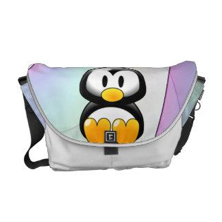 Adorable Sitting Cartoon Penguin Messenger Bag