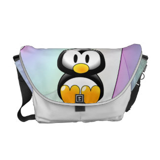 Adorable Sitting Cartoon Penguin Messenger Bags