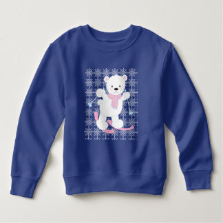 Adorable Skiing Polar Bear Sweatshirt