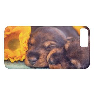 Adorable sleeping Doxen puppies iPhone 8 Plus/7 Plus Case