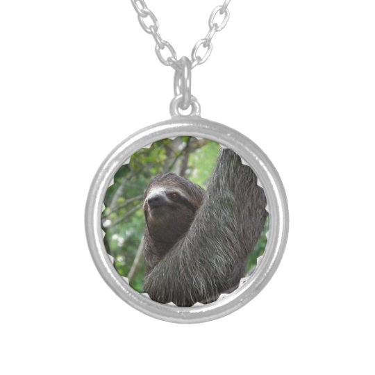 Adorable Sloth Silver Plated Necklace