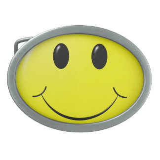 adorable smiley oval belt buckles