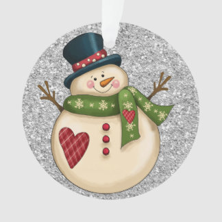 Adorable Snowman Ornament or Tag