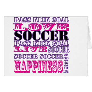 Adorable Soccer Design for Girls Pass Kick Goal Greeting Card