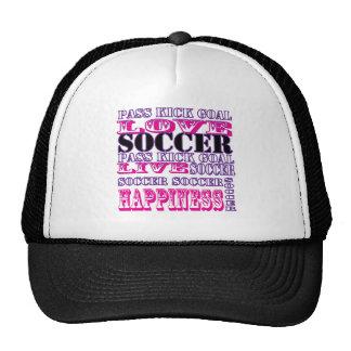 Adorable Soccer Design for Girls Pass Kick Goal Trucker Hats