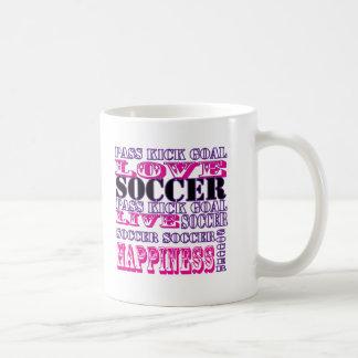 Adorable Soccer Design for Girls Pass Kick Goal Mug