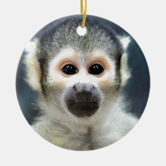 Adorable Spider Monkey Round Ceramic Decoration