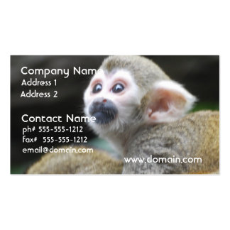 Adorable Squirrel Monkey  Business Cards