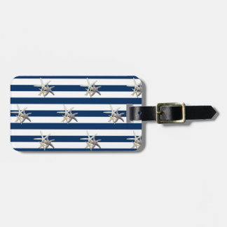 Adorable Starfish On Stripes-Personalized Luggage Tag