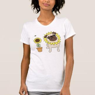 Adorable Sunflower Pug Tees - Text Optional
