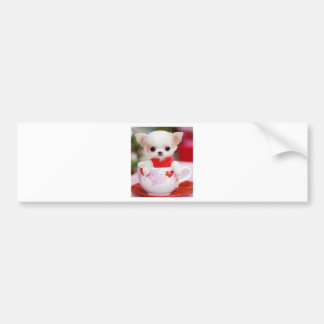 adorable teacup puppy car bumper sticker