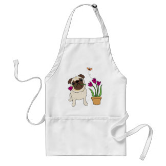 Adorable Tulip Pug and Butterfly Aprons
