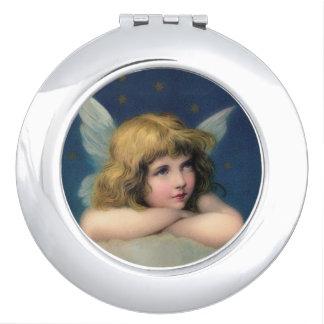 Adorable Vintage Angel Compact Mirror
