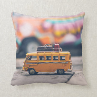 Adorable Vintage Bus Traveler Pillow