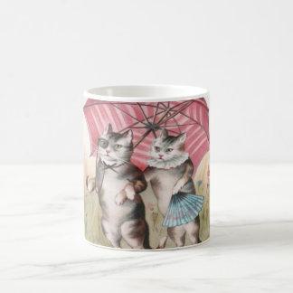 Adorable Vintage Cat Mug - Romantic Kitties