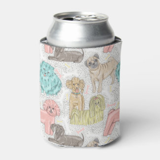 Adorable Vintage Doggies for Dog Lovers Can Cooler
