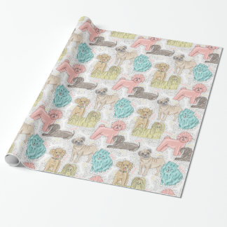 Adorable Vintage Doggies for Dog Lovers Wrapping Paper