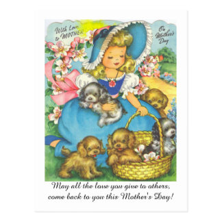 Adorable Vintage Mom's Day Postcard
