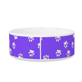 Adorable Violet Paw Printed Medium Dog Bowl