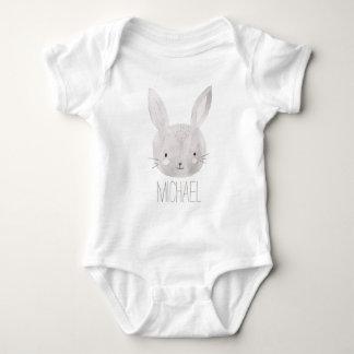 Adorable Watercolor Bunny Baby Bodysuit