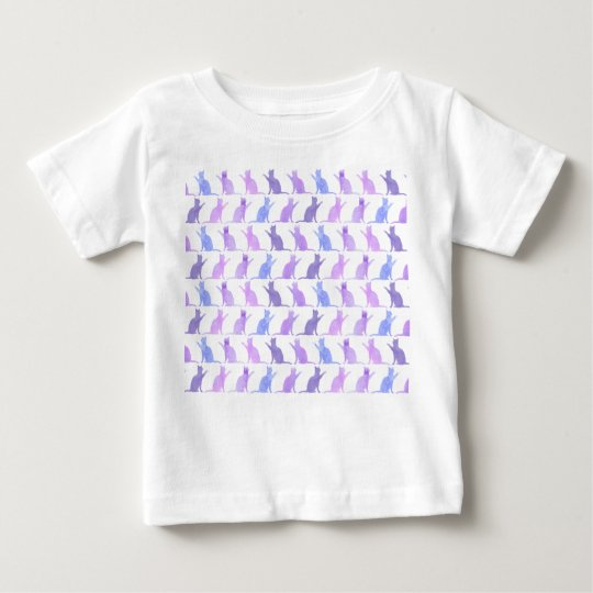 Adorable Watercolor Cat Pattern Baby T-shirt