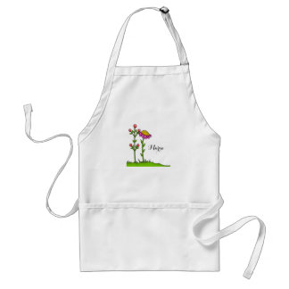 Adorable Watercolor Doodle Flower Apron