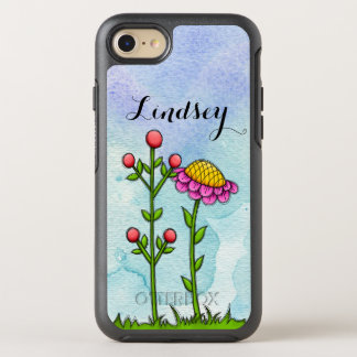 Adorable Watercolor Doodle Flower iPhone Otterbox