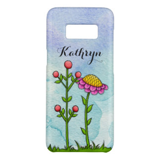 Adorable Watercolor Doodle Flower Samsung Case