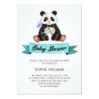 Adorable Watercolor Panda Baby Shower