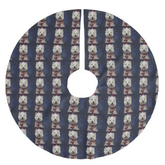 Adorable Westie Festive Christmas Tree Skirt
