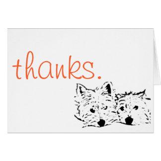Adorable Westie Thank You Card