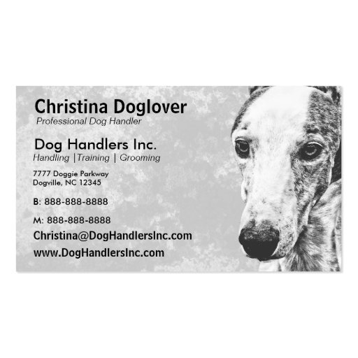 Adorable Whippet Dog Business Card Template