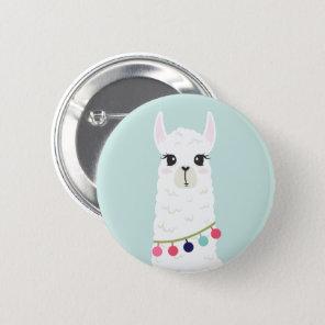 Adorable White Alpaca 6 Cm Round Badge