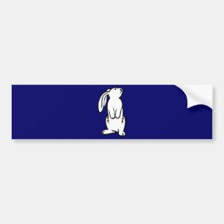 Adorable White Bunny Rabbit Bumper Sticker