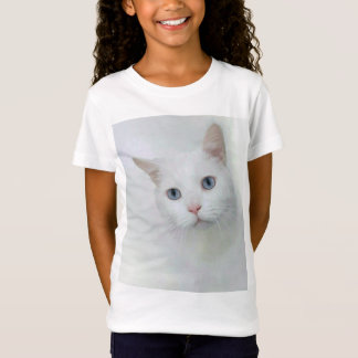Adorable white cat with blue eyes T-Shirt